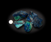 Azurite and Malachite with Chrysocolla