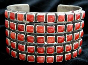 Coral Jewelry 50St SquareCabRowBracelet