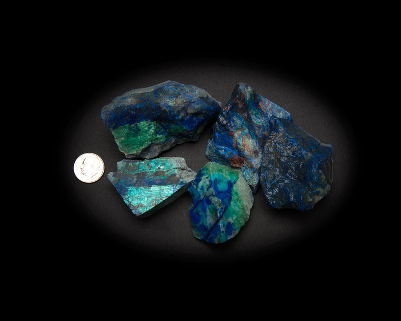 Azurite and Malachite with Chrysocolla Natural