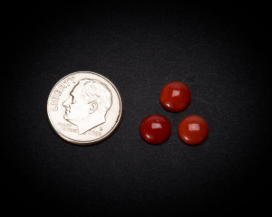 7 mm Round Coral Cabochons
