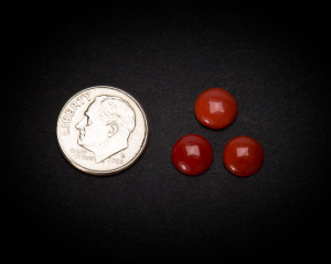 8 mm Round Coral Cabochons