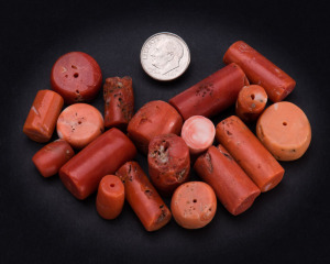 Antique Coral Beads From The Sea of Japan