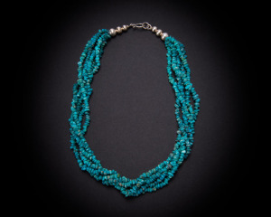 Five Strand Kingman Turquoise Nuggets