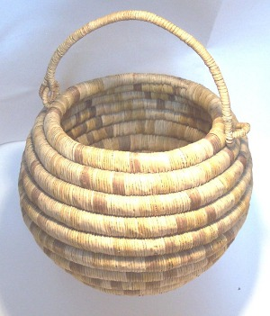 Hopi Coil Basket with Handle