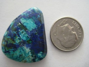 Bluebird Azurite with Crysacola