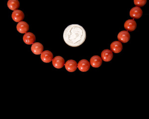 10 mm Round Coral Beads
