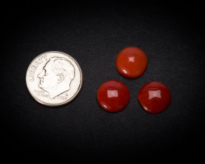 10 mm Round Coral Cabochons