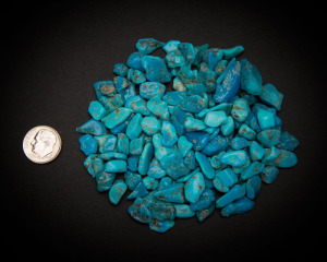 Turquoise Nuggets, Stabilized Blue