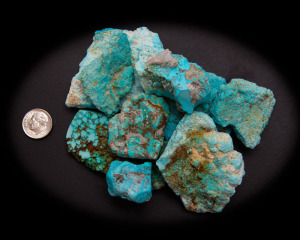 Kingman Old 1970's Turquoise Mountain