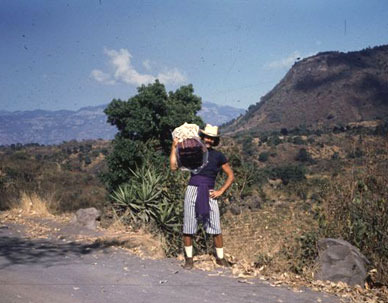 Jeff in the mountains above Lake Atitlan, ca. 1975