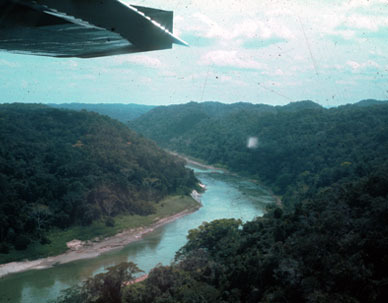 The Rio Usamacinta from the air, ca. 1973